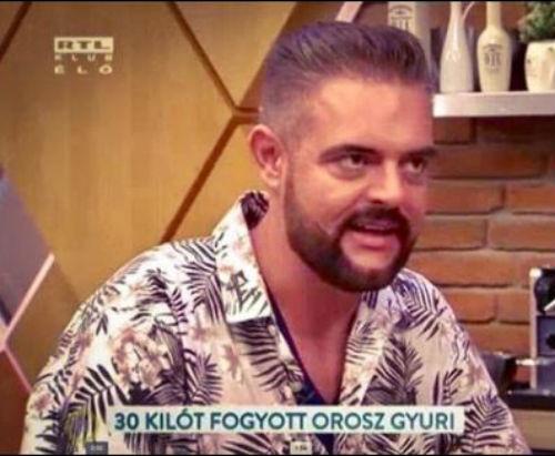 Orosz Gyuri a fogyásáról mesélt az RTL Klubb Reggeli című műsorában