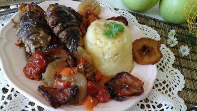 Almás-baconös kacsa krumplipürével