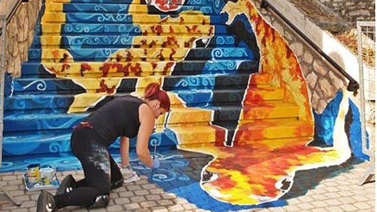 Zseniális Tapolca új lépcsője