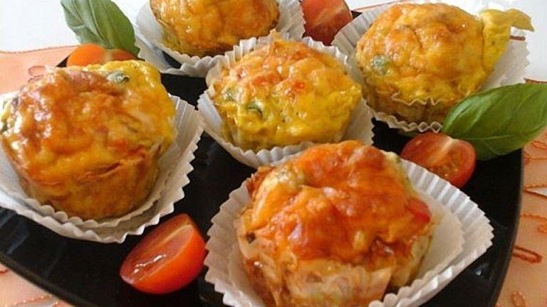 Zöldséges-tojásos muffin