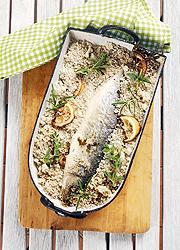 Sóban sült egész hal