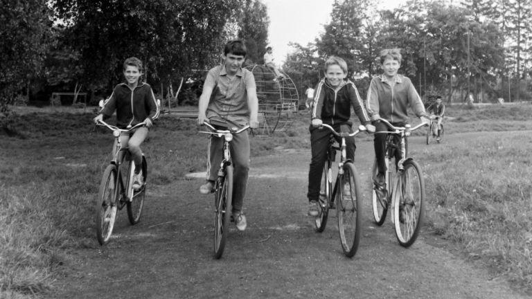 bicikli gyerek Fortepan