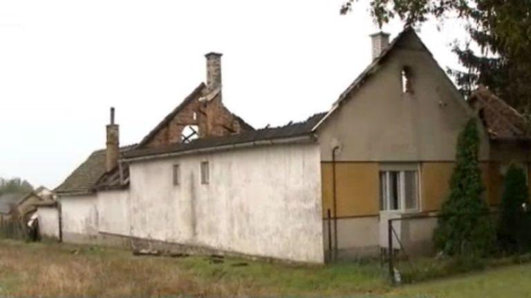leégett családi ház