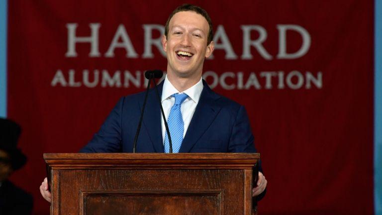 Mark Zuckerberg a Harvardon (forrás: AFP)