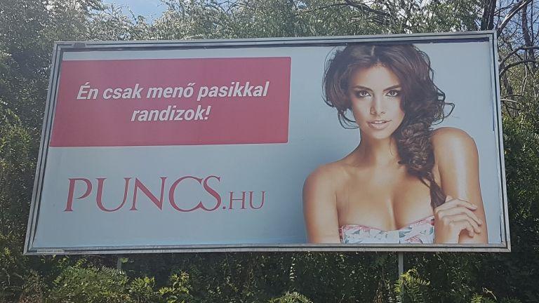 A Puncs.hu egyik hirdetése (fotó: Technokrata.hu)
