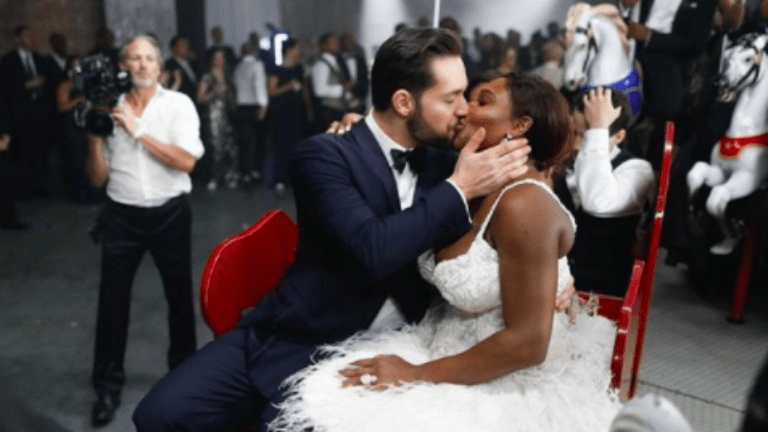 serena williams, alexis ohanian, esküvő