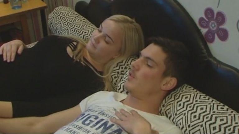 Markovics Dávid és barátnője (forrás: TV2)
