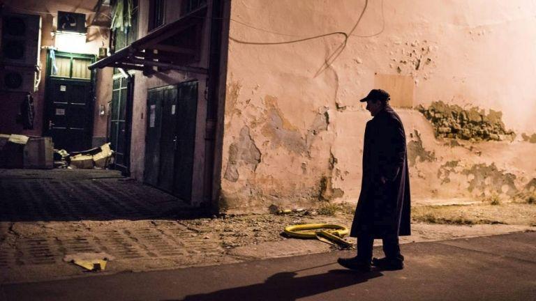 Hajléktalan férfi (MTI Fotó: Balázs Attila)