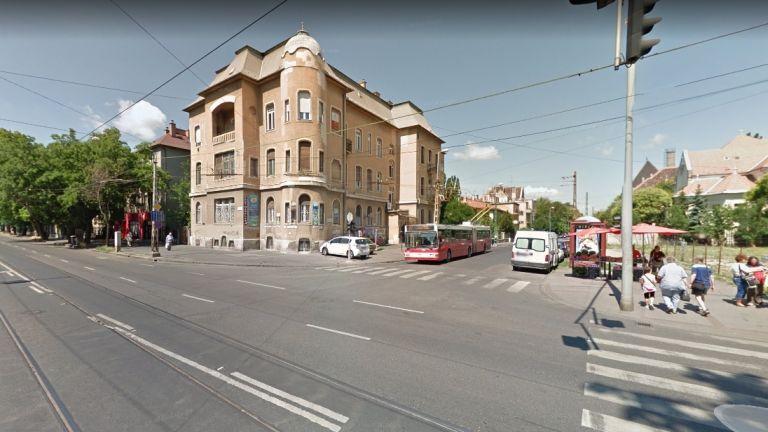 A Hermina út és a Thököly út kereszteződése a Google képén