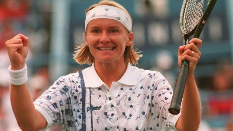 Jana Novotná 1994-ben (fotó: Clive Brunskill/ALLSPORT)