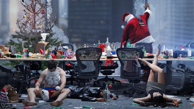 Kép a Hivatali karácsony című filmből (forrás: Freeman Film)