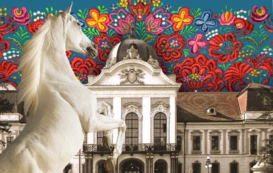 Gödöllői luxusesküvő 18. századi lovas hintón