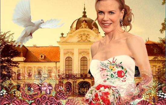 A kalocsai mániás Nicole Kidman lehetne a koszorúslány (Tervező: Kéki Zsoltné, Andrea)