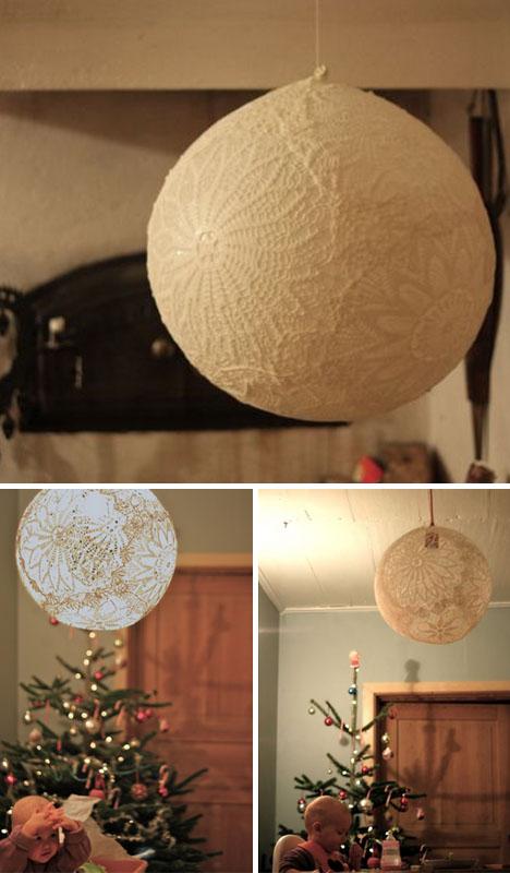 Hogy lesz a nagyi csipketerítőjéből romantikus lámpa?