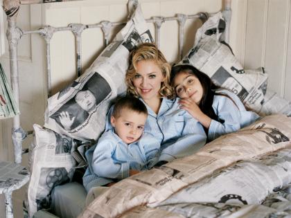 Madonna és gyerekei 2005-ben