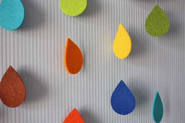 Csináld magad: színes esőcseppek