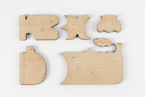 Tápláléklánc-puzzle fából