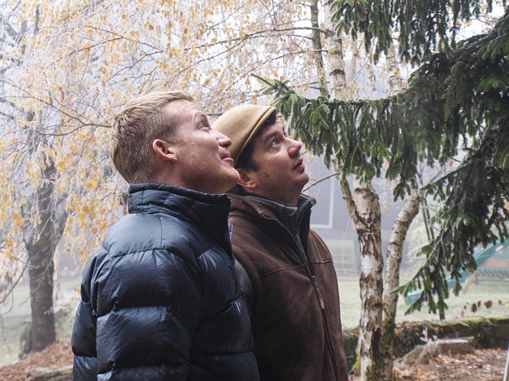 Batár Zsolt, a tulajdonos (balra) és Turányi Bence építész Fotó: Peter Sägesser