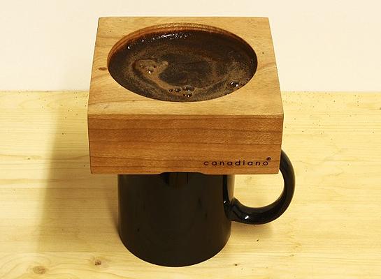 Itt a fából készült kávéfőző!