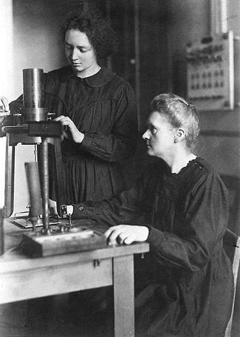 Maria Curie és lánya Irène Joliot-Curie