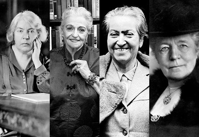 Grazia Deledda, Pearl S. Buck, Gabriela Mistral, Selma Ottilia Lovisa