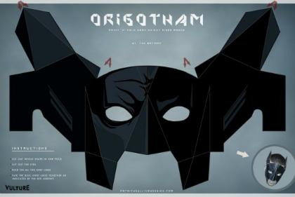 Letölthető papírálarcok farsangra Batmantől bajuszig
