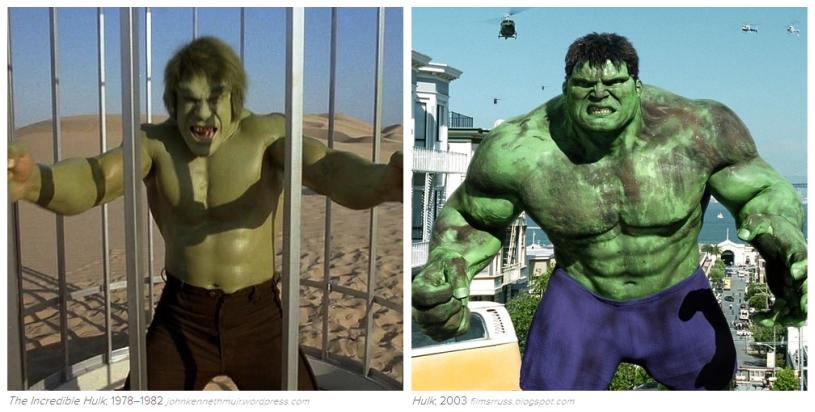 Hulk: 1978-82, 2003.