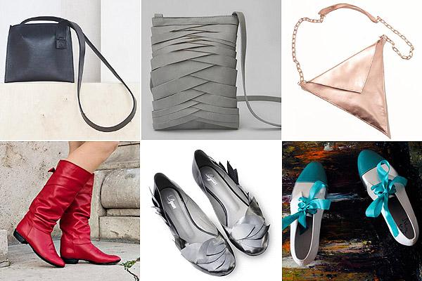 Fekete és szürke táska: Agnes Kovacs, háromszög: Zoe Phobic, piros csizma: IcipiCipő, balerina: DYAN, masnis: Tenntre