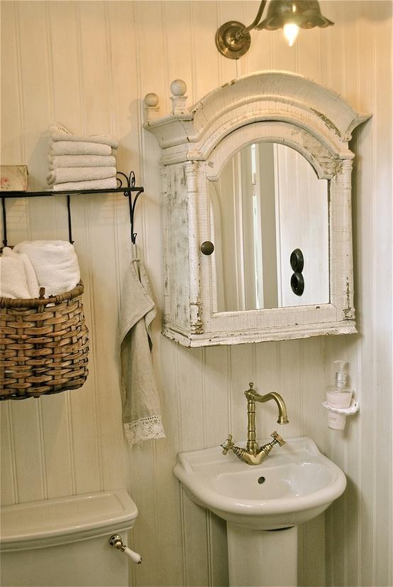 Vidékies hangulatú fürdőszoba