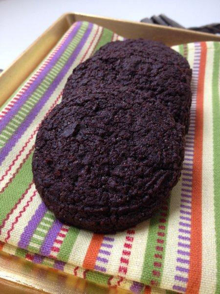 Lenmagos csokoládés keksz
