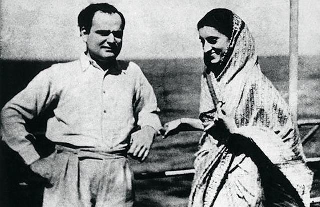 Feroz Gandhival, az újságíró férjjel