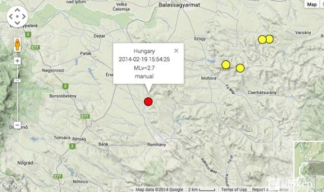Ma kétszer is rengett a föld Magyarországon