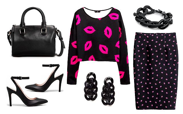 Felső, szoknya: H&M, ékszerek, táska: Mango, cipő: Pull&Bear