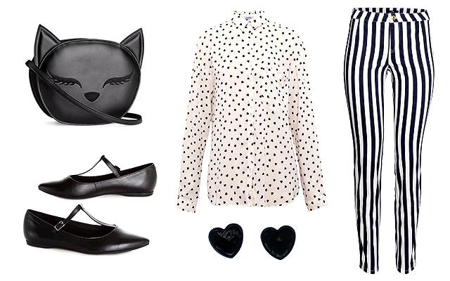 Blúz: Pull&Bear, nadrág, táska: H&M, fülbevaló: Claire's, cipő: Vagabond