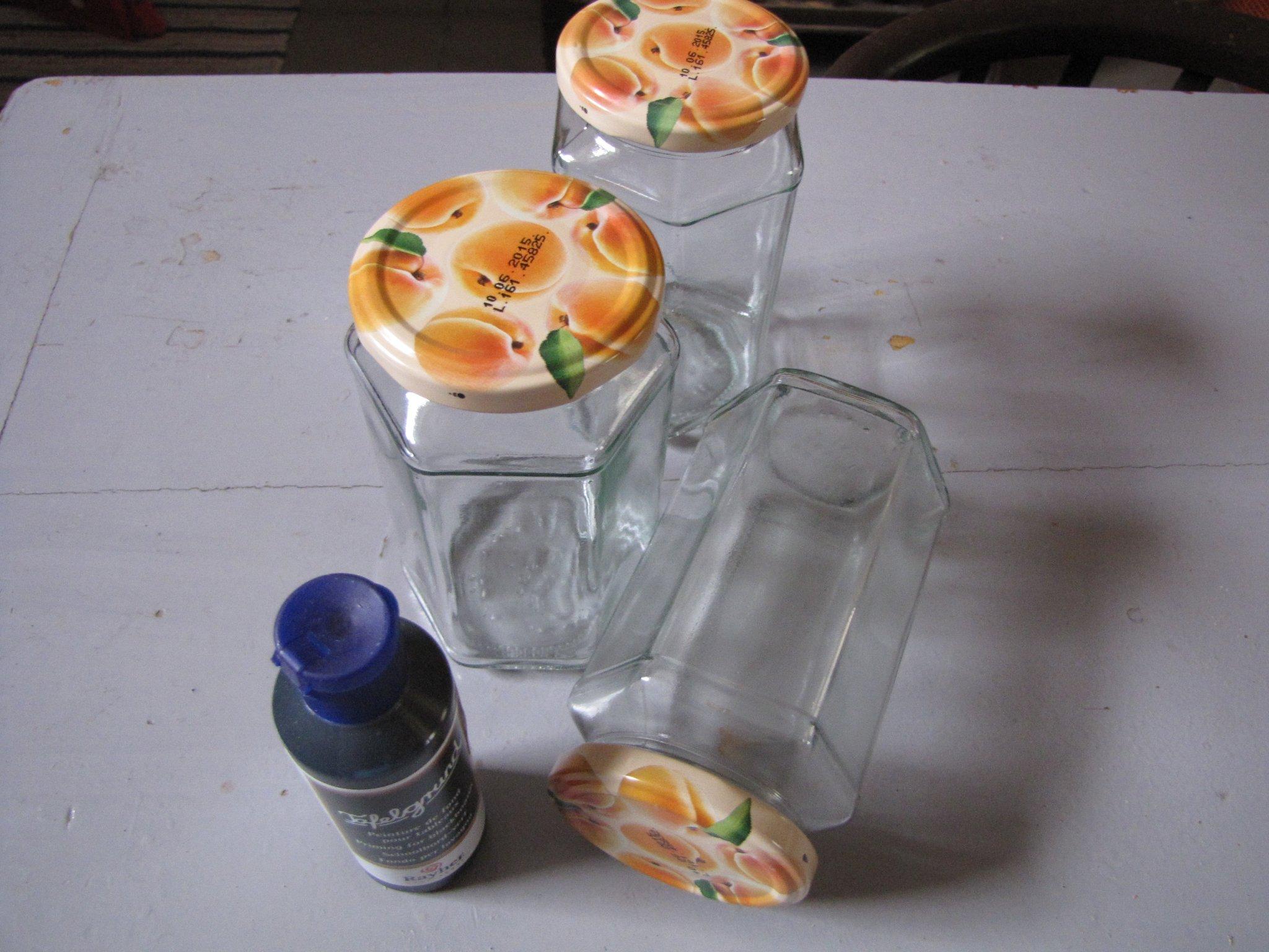 Tea- és fűszertartó befőttesüvegből
