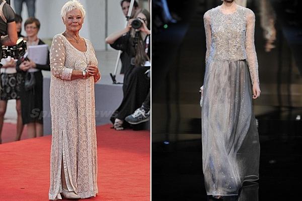 Judy Dench, Armani Privé couture