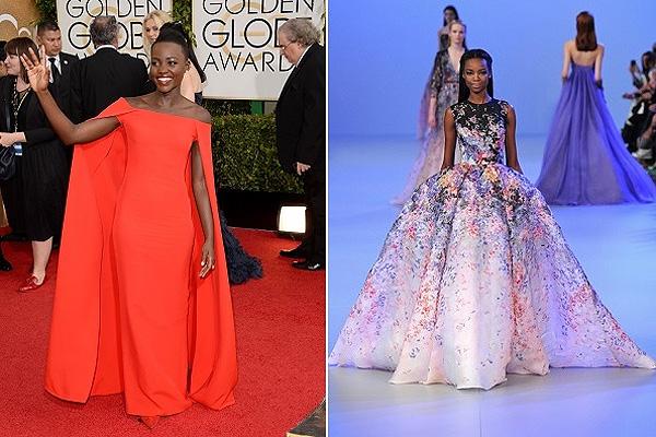 Lupita Nyong'o, Elie Saab couture