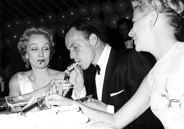 Marlene Dietrich és Sinatra