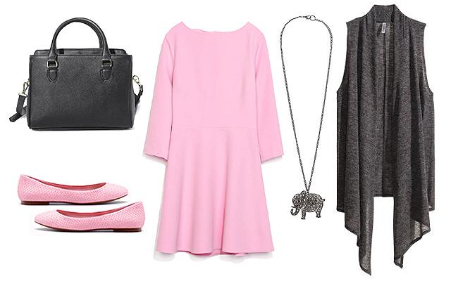 Ruha, táska: Zara, mellény: H&M, nyaklánc: Mango, cipő: Bershka