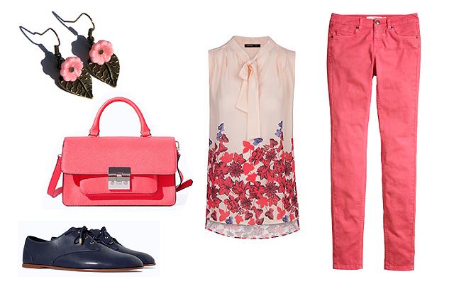 Felső: Mango, nadrág: H&M, táska, cipő: Zara, fülbevaló: Nakri (Meska)