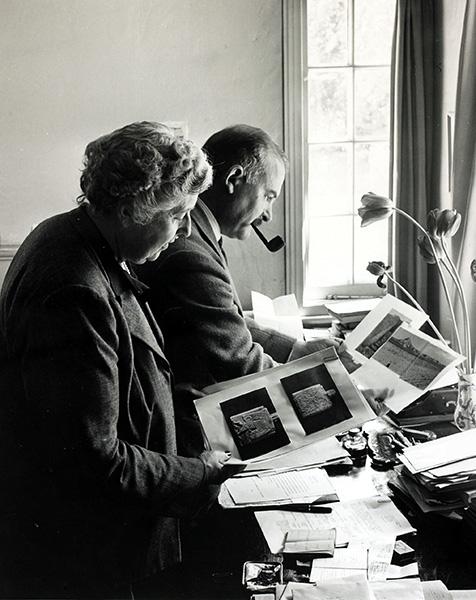 Agatha Christie és férje Max Mallowan