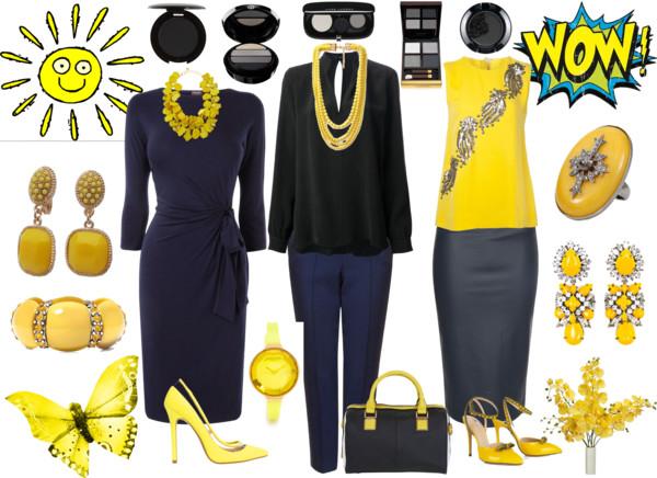 Business chic kis sárga csavarral
