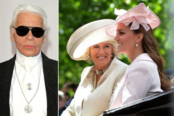 Lagerfeld szerint Camilla vadabb, mint Katalin hercegné