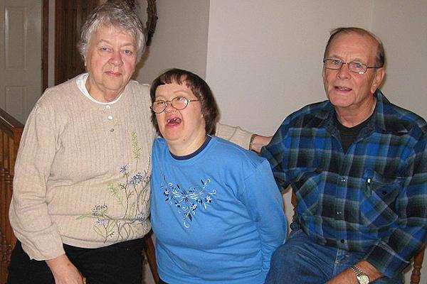 Sandy és a szülei