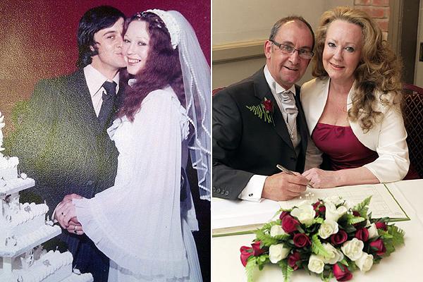 Ann és Chris az első és a második esküvőn