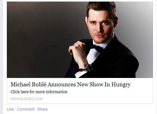 Michael Bublé Hungryba jön koncertezni