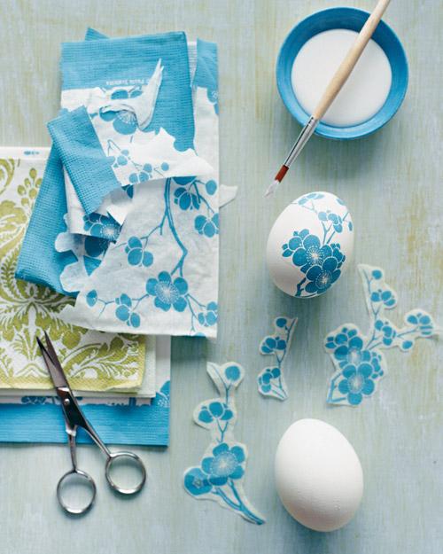 Festés helyett dekorált szalvétával a húsvéti tojást!