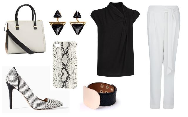 Nadrág, felső: Mango, cipő: Zara, táska: H&M, karkötő: Látomás, fülbevaló, mobiltok: H&M