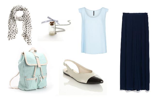 Nadrág: Zara, felső: Mango. cipő: Vagabond, hátizsák, nyaklánc: Látomás, kendő: H&M