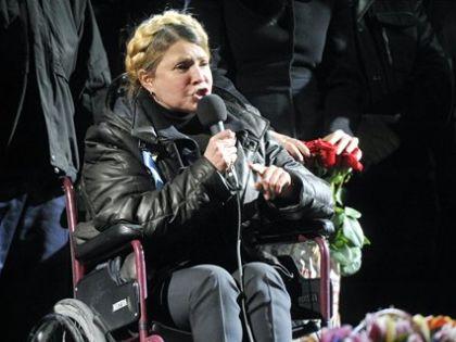 Timosenko a börtönból való kiszabadulás napján